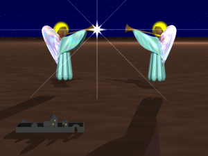 'The secrets behind the forced perspective in this image.' from the web at 'http://graphics.cyborg5.com/files/2013/01/fake_bethlehem-300x225.png'