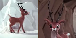 Screen grab images from Rudolph TV special use as reference images.