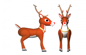 'Test rendering of Rudolph' from the web at 'http://graphics.cyborg5.com/files/2013/12/reindeer1-300x192.png'