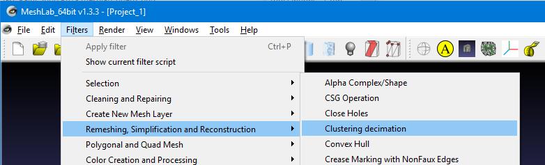 meshlab_cluster_menu