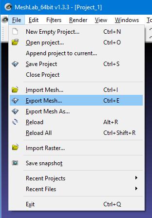 meshlab_export_menu